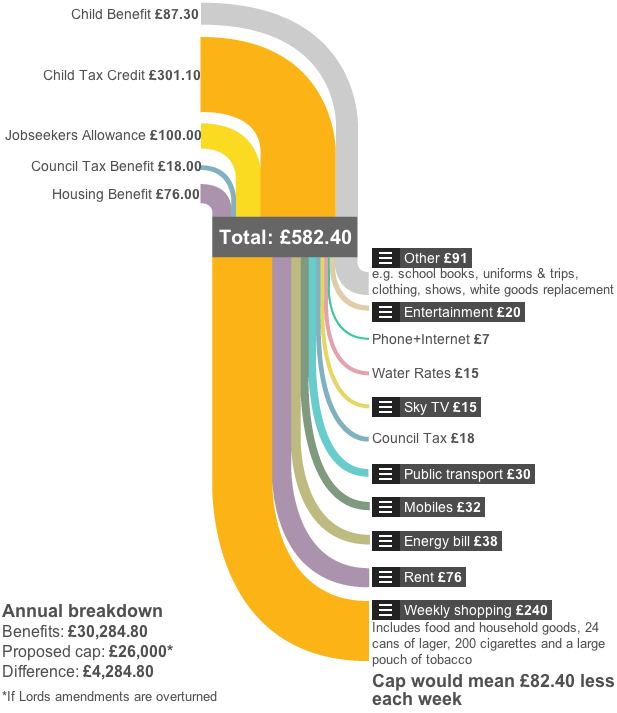 How one family on benefits spends £582.40 a week (or £30,284.80 a year)