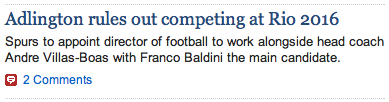 Telegraph sub confuses swimming with football