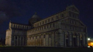 Pisa Cathedral at night