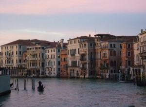 A view of Venice's Grand Canal